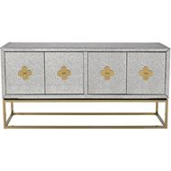 LOEN sideboard 89x180 clear/gold