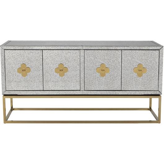 Picture of LOEN sideboard 89x180 clear/gold