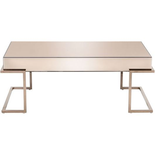 Picture of LUCA coffee table 120x60 pink/copper
