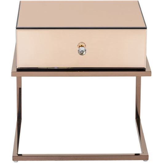 Picture of LUCA bedside table pink/copper