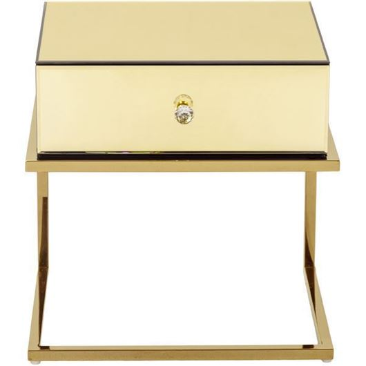 Picture of LUCA bedside table gold
