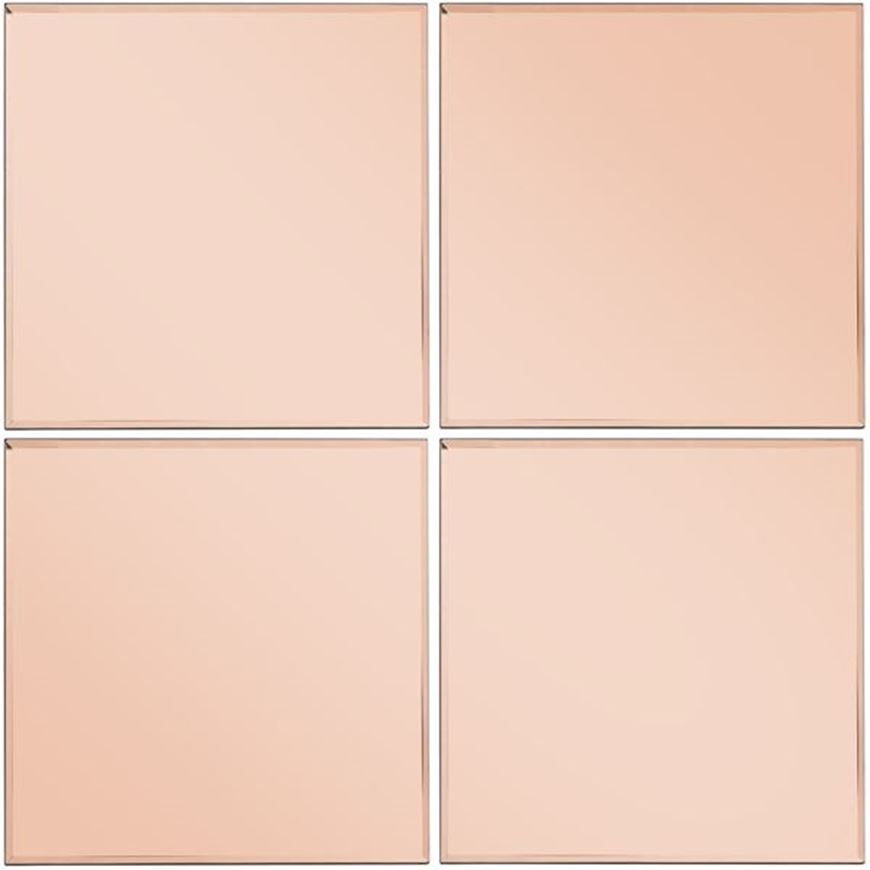 Picture of TOUR mirror 30x30 set of 4 pink