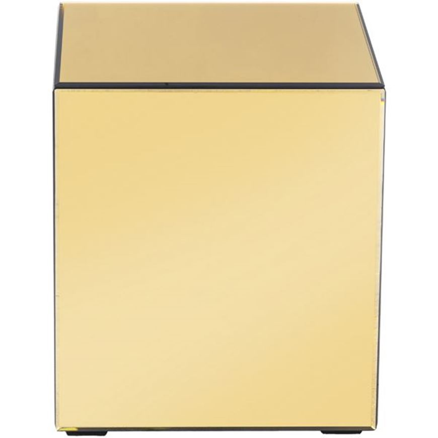TOUR side table 40x40 gold