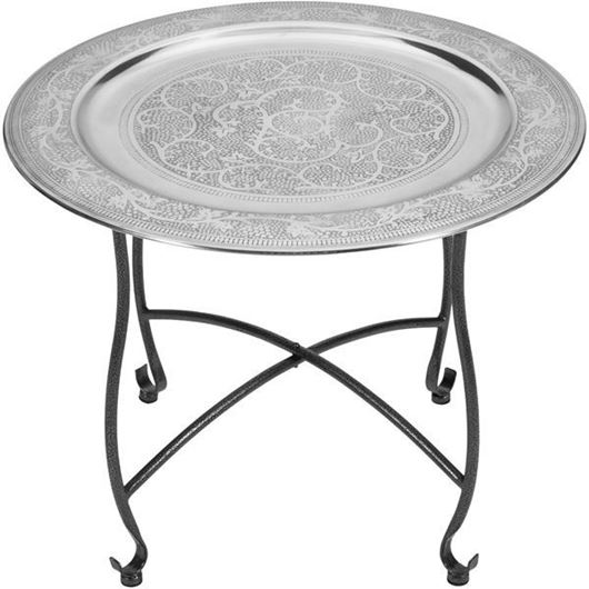 Picture of MOROCCAN side table d60cm silver