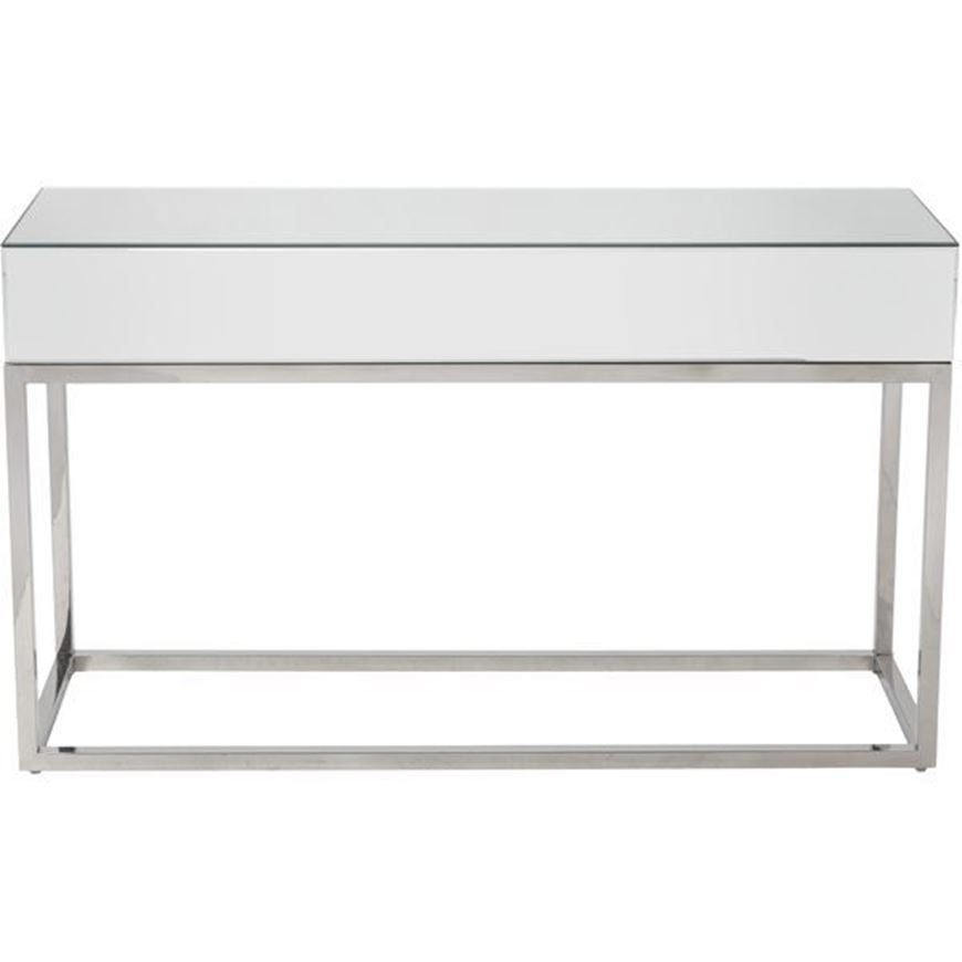 LOKA console 120x40 clear/stainless steel
