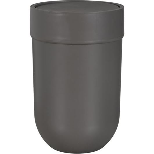 Picture of TOUCH waste can with lid grey