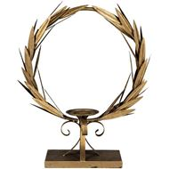WREATH candle holder h51cm gold