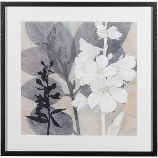 Picture of BOTANICAL Story II print 66x65 black