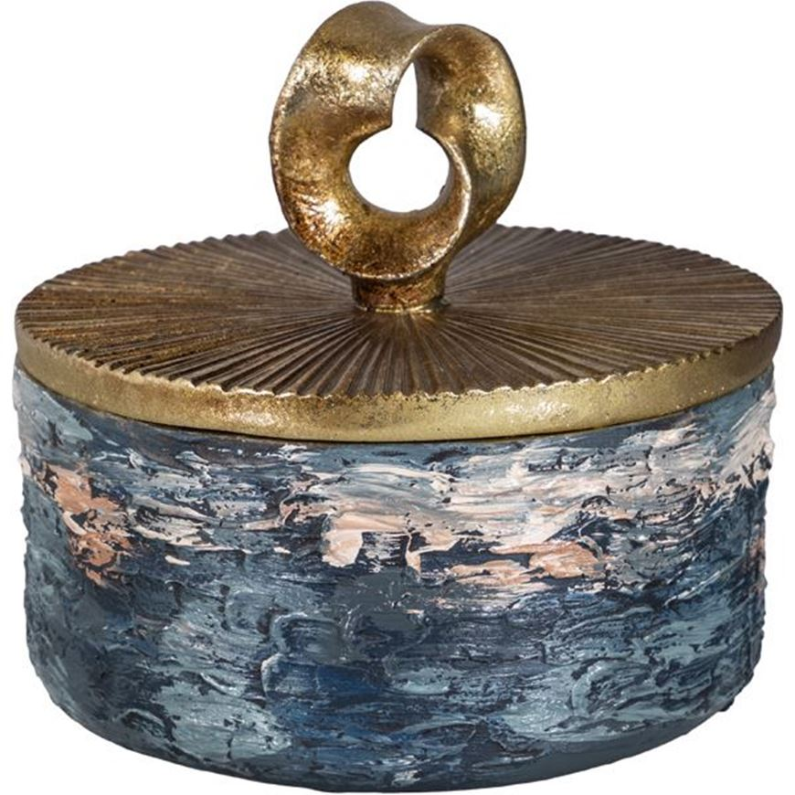 Picture of CIRCLE box d17cm gold