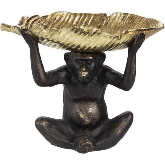 Picture of MONKEY decoration h34cm bronze/gold