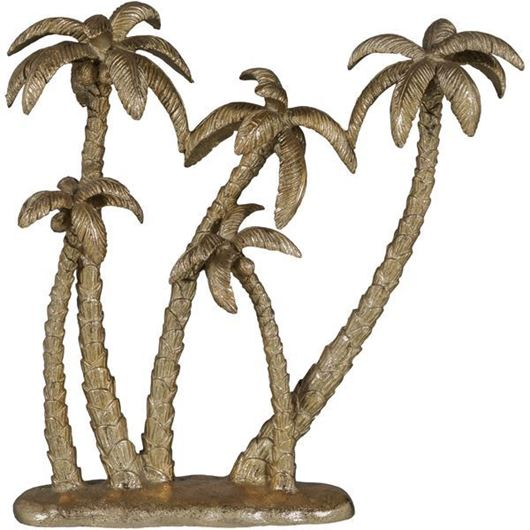 Picture of COCONUT tree decoration h38cm gold