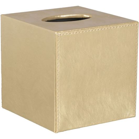 Picture of RIVER tissue box 13x14 gold