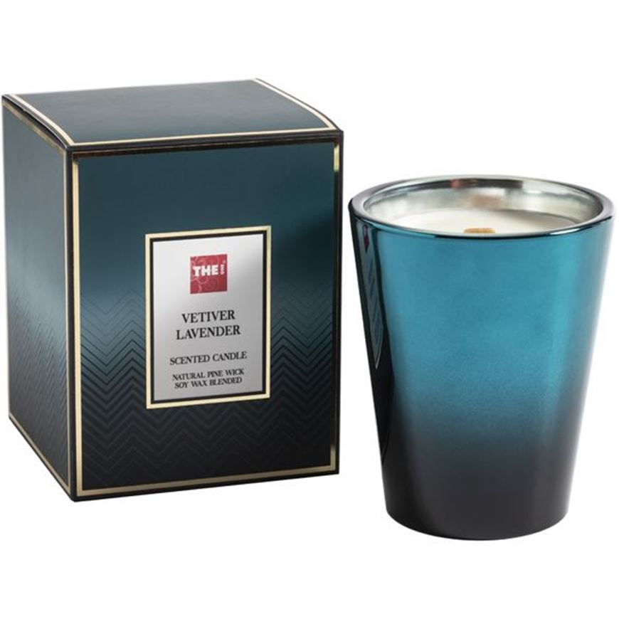 Picture of VETIVER LAVENDER candle blue