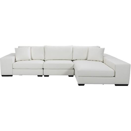Picture of GUSTY corner sofa leather white