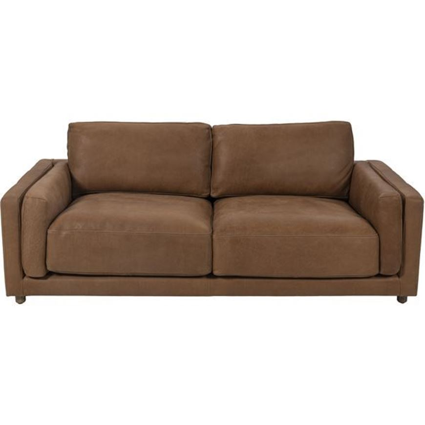 BUTTER sofa 2.5 leather brown
