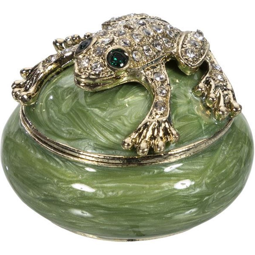 Picture of NULA trinket box d6cm green
