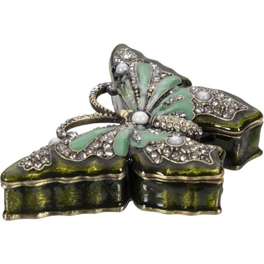 Picture of TRUDY trinket box 8x6 green