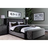 POKER bed 180x200 grey