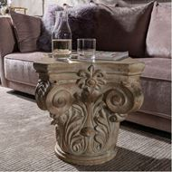 LIYA side table 46x46 brown