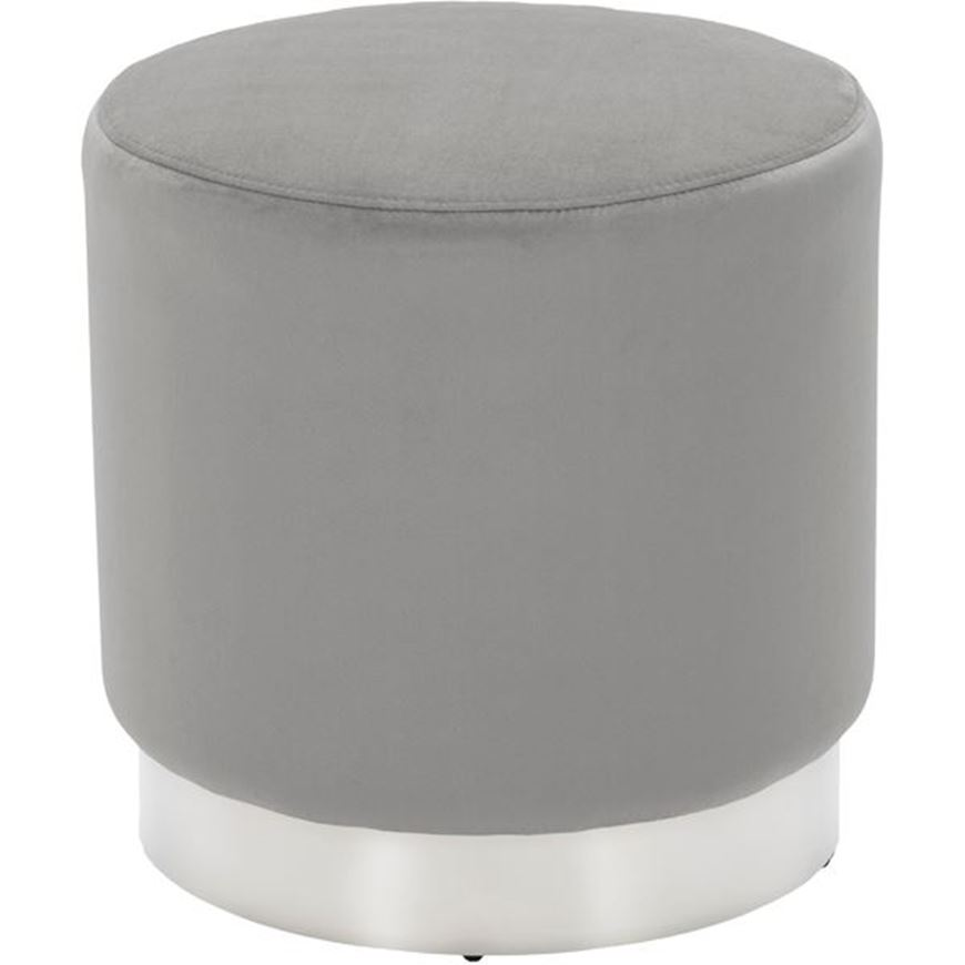 Picture of COCO stool d47cm microfibre silver