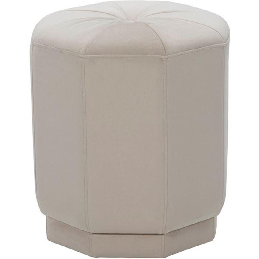 DOMI stool d43cm microfibre white