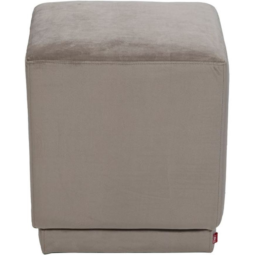 CUBE stool 40x40 microfibre taupe
