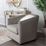 VELWI armchair microfibre taupe