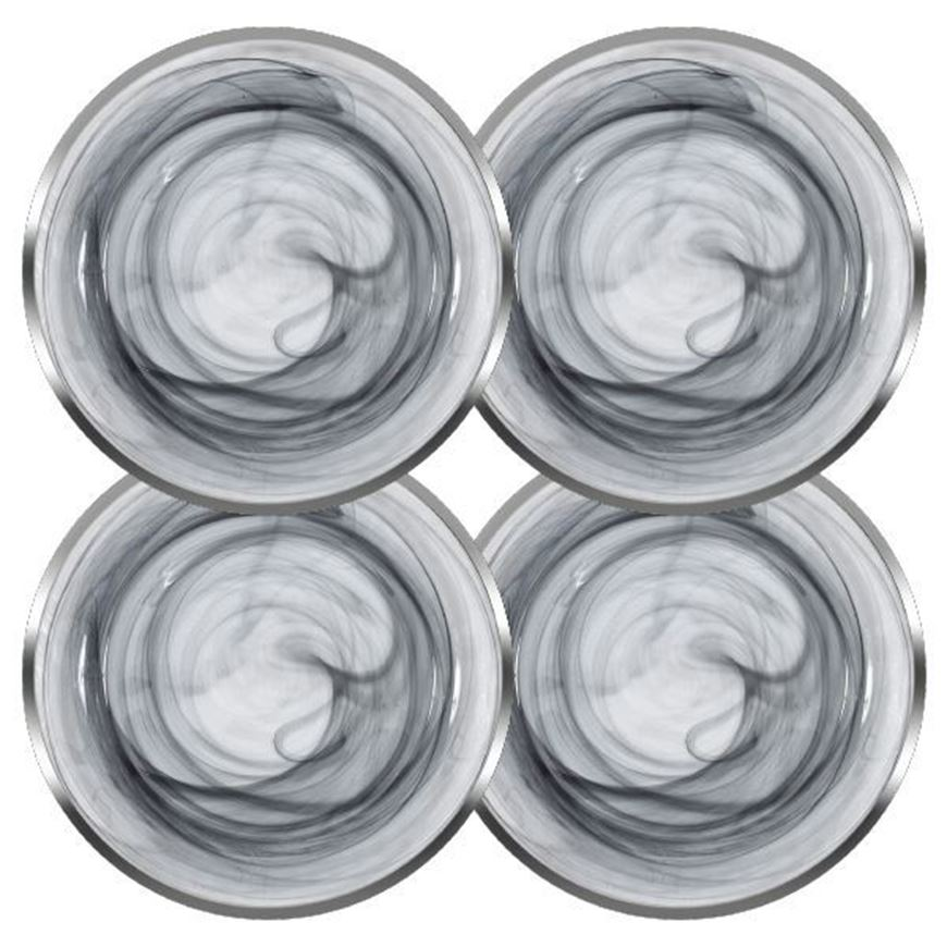 IMANA charger plate d31cm set of 4 black/silver