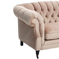 LOUIE sofa 2.5 + chaise lounge Left pink