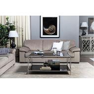ORA coffee table 107x62 clear/nickel