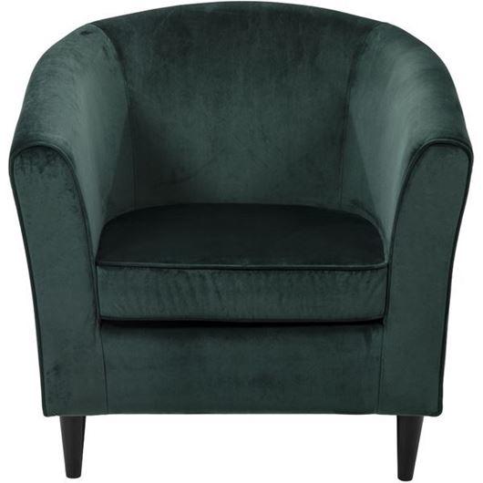 BOB armchair microfibre green