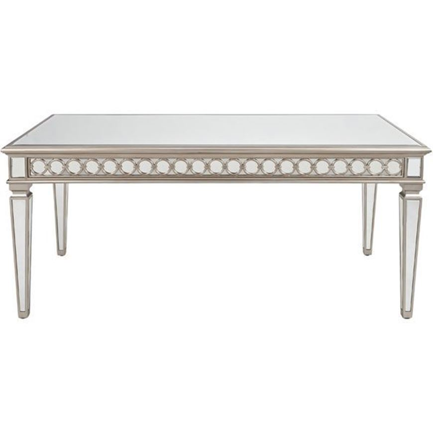 LINC dining table 180x90 clear/gold
