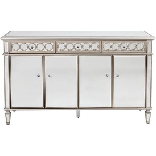 LINC sideboard 92x152 clear/gold