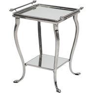 AADIE side table 48x42 clear/nickel