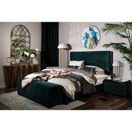 WINK bedside table microfibre green