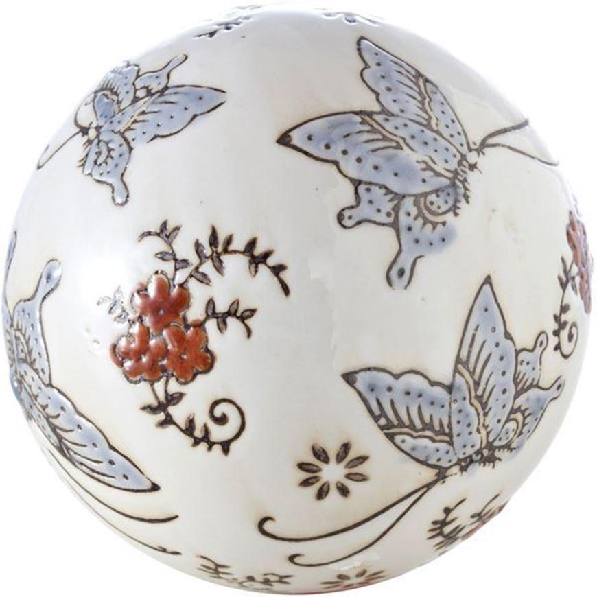 WHITE ball decoration d10cm white