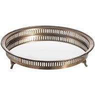 VEENA tray d35cm brass/clear