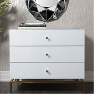 THEA chest 3 drawers white/gold