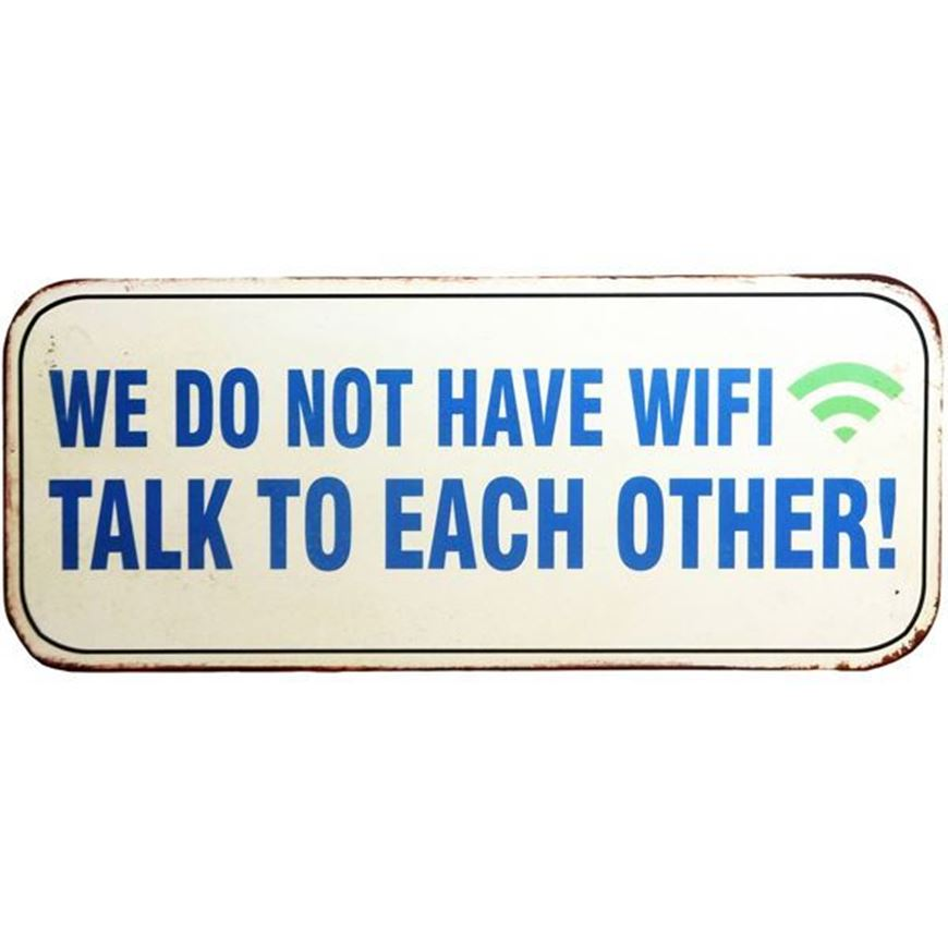 TALK TO EACH OTHER wall decoration 31x13 white