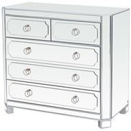 SEBAZ chest 5 drawers clear/silver