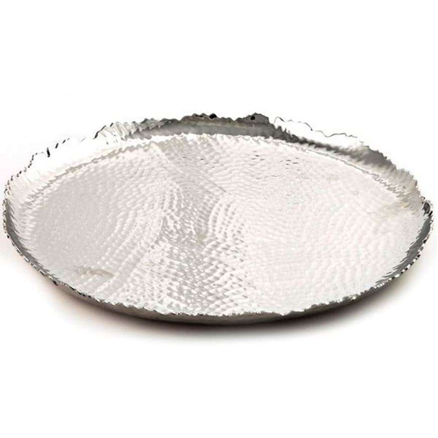 ROSELL candle plate d19cm silver