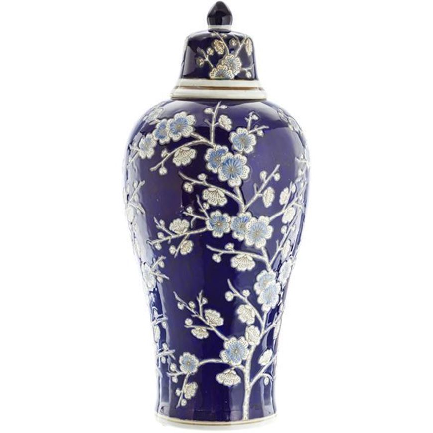 RINGBOW jar with lid h54cm blue