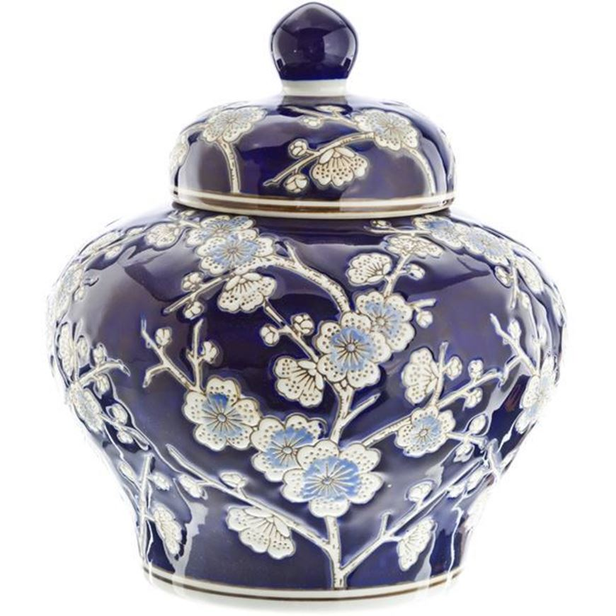 RINGBOW jar with lid h24cm blue