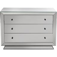 QUANG chest 3 drawers clear