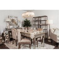 LINC dining table 220x100 clear/gold