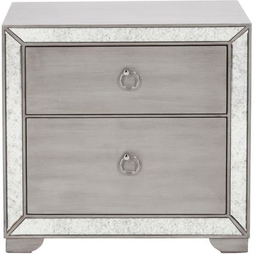 MONA bedside table clear/silver