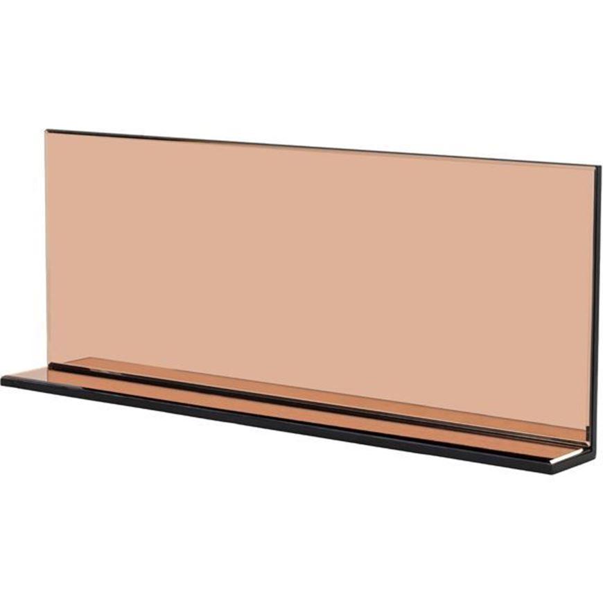 L SHAPE mirror 100x40 pink