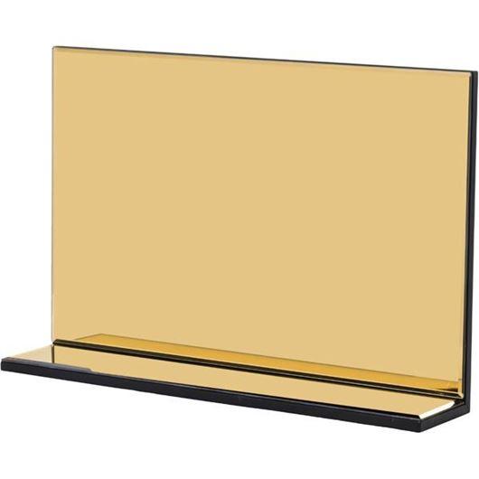 L SHAPE mirror 60x40 gold