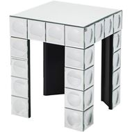 BUBBLE side table 44x44 clear