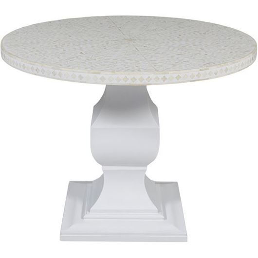 RUTH dining table d100cm white